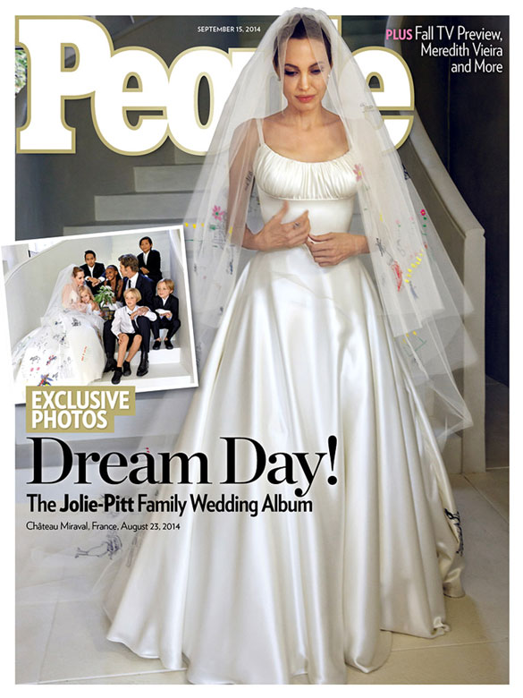 Angelina Jolie's Versace Wedding Gown