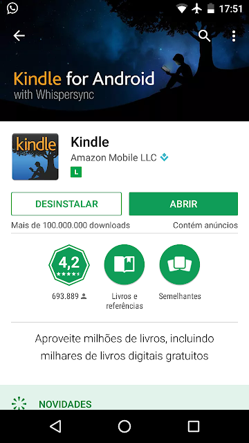 Aplicativo Kindle