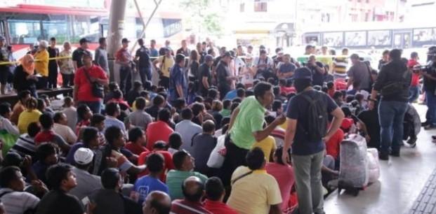 Malaysia razia tenaga kerja ilegal, sebagian TKI 'bermalam di hutan dan kontainer'