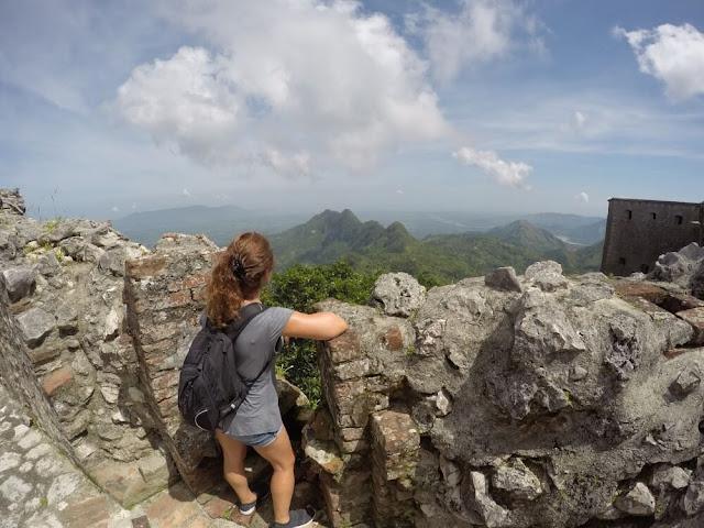 vista desde Citadelle laferrière de Haití