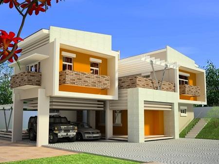 Warna Cat Rumah Minimalis Modern Dindin Design