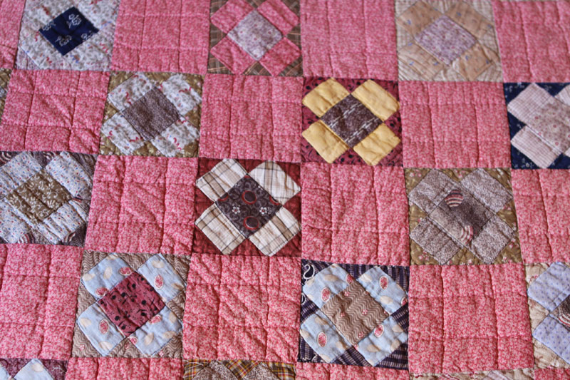 Antique Watermill Quilt 1870s