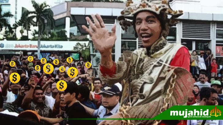 Pendukung Jokowi Patungan