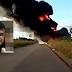 Carreta pega fogo e motorista morre carbonizado em Ipanguaçu - Vídeo