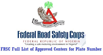 FRSC List of Approved Centers