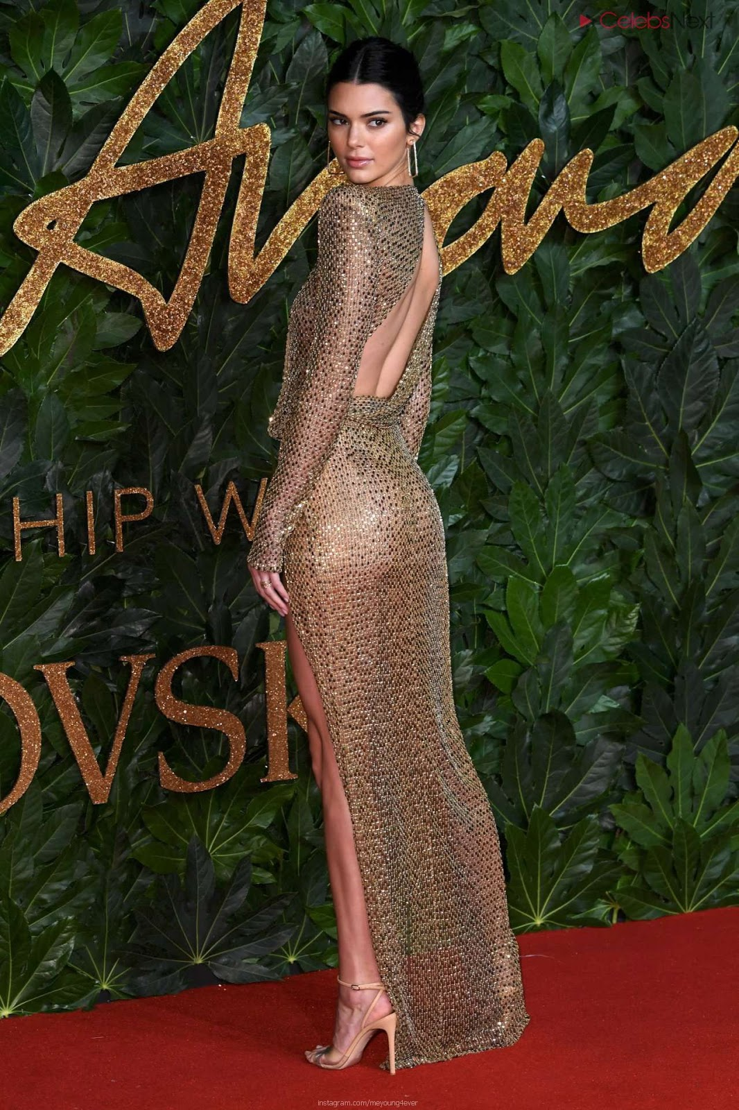 Kendall Jenner Nude At British Fashion Show 2018 WOW sexy ass hot small boobs slim figure CEleBrityBooty.co Exclusive