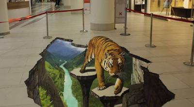 Fantastis! 15 Lukisan 3D di Lantai Ini Dapat Menipu Mata