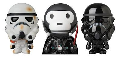 Star Wars x A Bathing Ape Baby Milo Wave 4 Vinyl Figures by Medicom – Darth Vader, Sandtrooper & Shadowtrooper