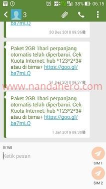 paket tri 2gb 1500 2019 murah