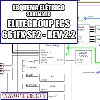 Esquema Elétrico Placa Mãe EliteGroup ECS 661FX SF2 Motherboard Manual de Serviço  Service Manual schematic Diagram Placa Mãe EliteGroup ECS 661FX SF2 Motherboard    Esquematico Placa Mãe EliteGroup ECS 661FX SF2 Motherboard