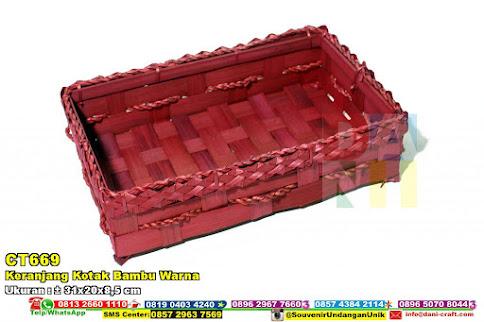 Keranjang Kotak Bambu Warna