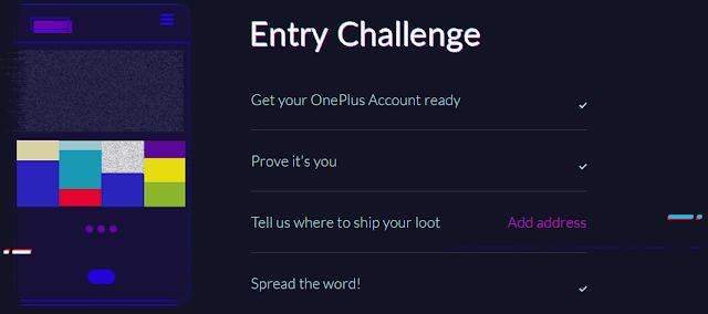 OnePlus December Dash ENnry Challenge