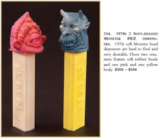 Pez rubber monster head
