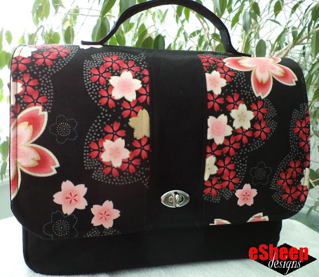 Customized messenger bag by eSheep Designs