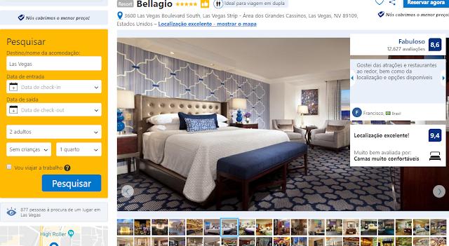 Estadia no Hotel Bellagio em Las Vegas