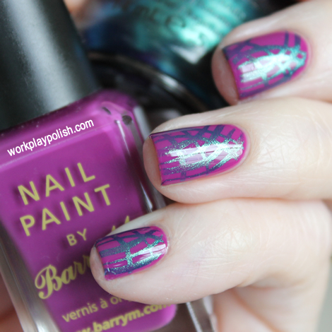 China Glaze Deviantly Daring and Barry M Bright Purple