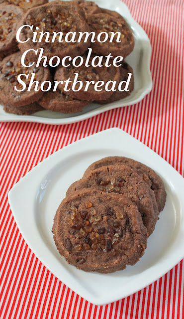 Food Lust People Love: Cinnamon Chocolate Shortbread is the perfect cookie for your holiday table or cookie exchange. The rich buttery shortbread is enhanced by cinnamon and cocoa for a delightful treat that keeps well in a tin for days.