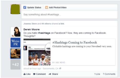 Create and Use Facebook Hashtag
