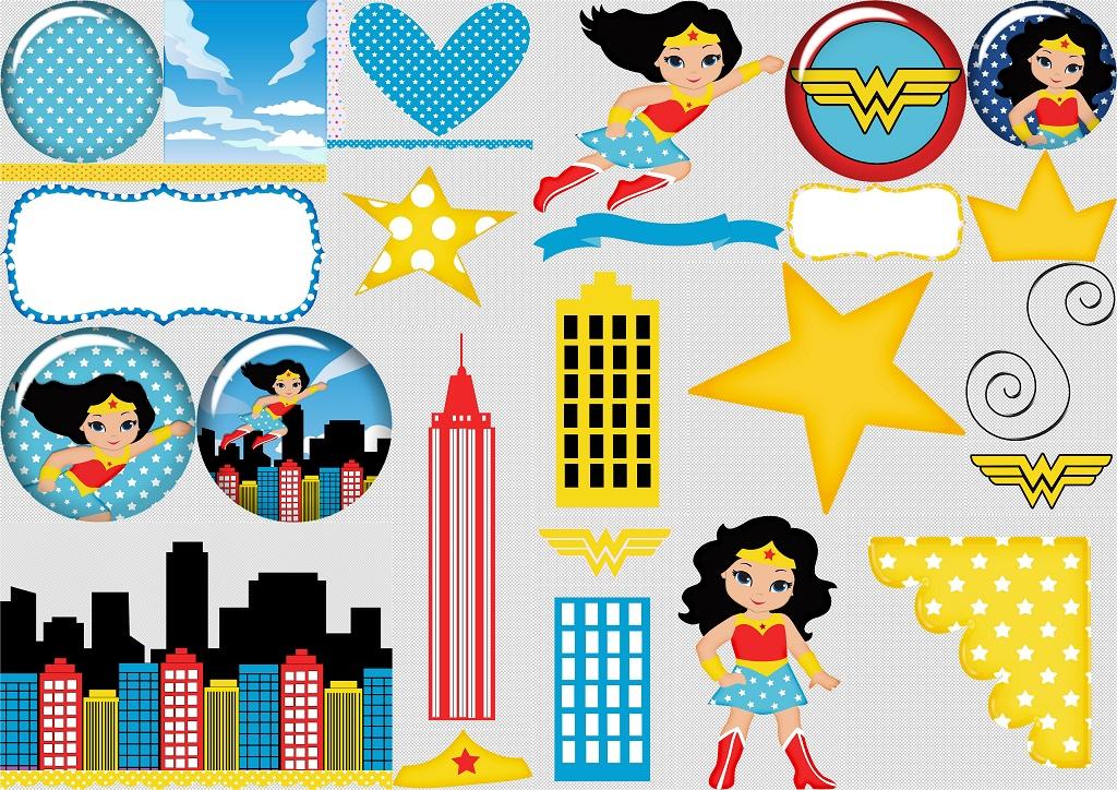 Dibujos De La Mujer Maravilla Para Colorear E Imprimir: Wonder Woman Baby Clipart.