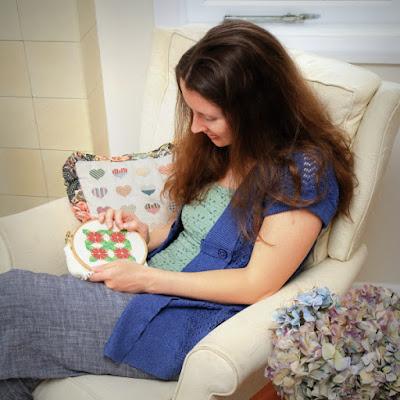 cross stitch designer Jenny Van De Wiele