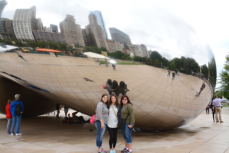 Girls at the Bean