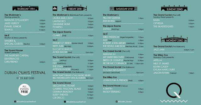 Dublin Quay's Festival 2018 Line Up