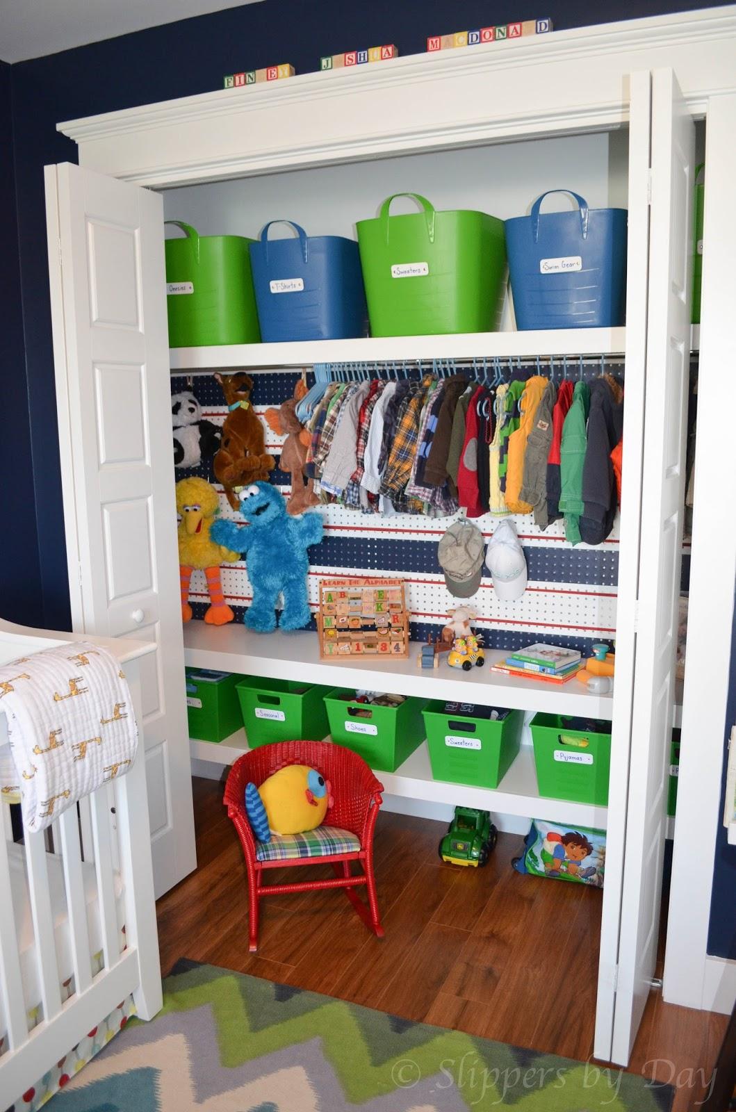 Slippers by Day: Kids Closet Organization