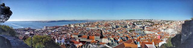 丘に張り付くように街が広がるリスボンの中心部