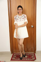 Lavanya Tripathi in Summer Style Spicy Short White Dress at her Interview  Exclusive 287.JPG