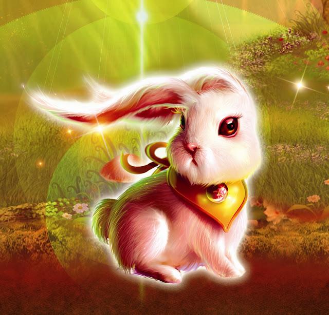 Hình ảnh chú thỏ ngọc của chị Hằng đầy ma thuật phải không nào.