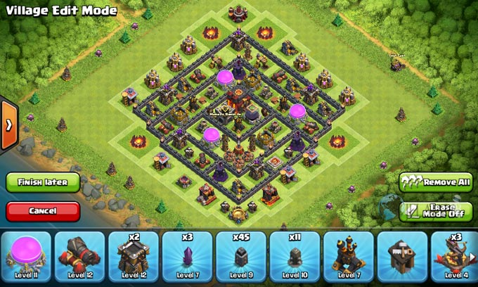 Susunan Formasi Base War TH 8 Update Terbaru 9