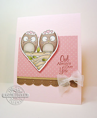 Owl Always Love You card-designed by Lori Tecler/Inking Aloud-stamps and dies from The Cat's Pajamas