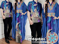 baju couple Hayani Biru 180.000 matt batik sutra+seruti impor lapis furing cow Ld 102 pj 70 cew Ld 100 pj 138