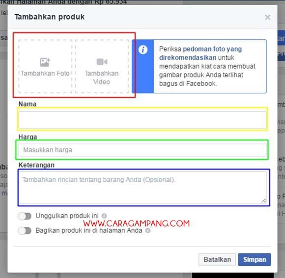 Cara Membuat Toko Online di Facebook Gratis