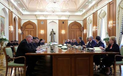 Russian-Turkmenistani talks in Ashgabat.