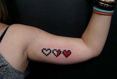 üç kalp dövmesi three heart tattoo