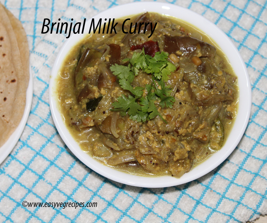 Brinjal Milk Curry