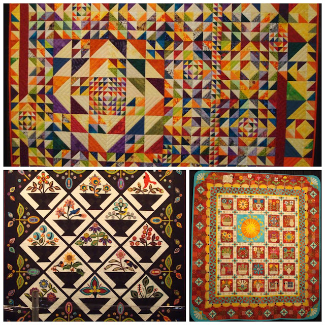 abstract painted wholecloth quilt