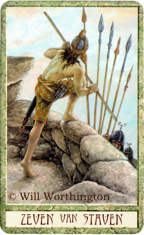 Druidcraft Tarot Seven of Wands Will Worthington
