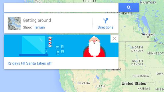 How Many Days Till Christmas Google.Google Maps Promotes Google S Santa Tracker