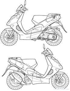 motorcycles: Aprilia SR 50