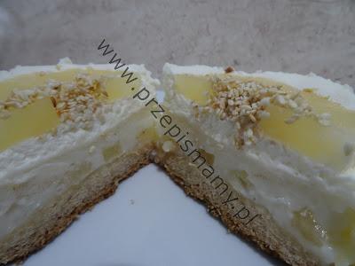 Ciasto kokosowo ananasowe