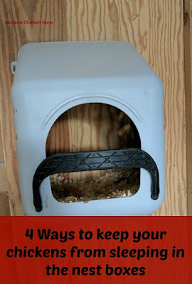 keep chickens from sleeping in nest boxes