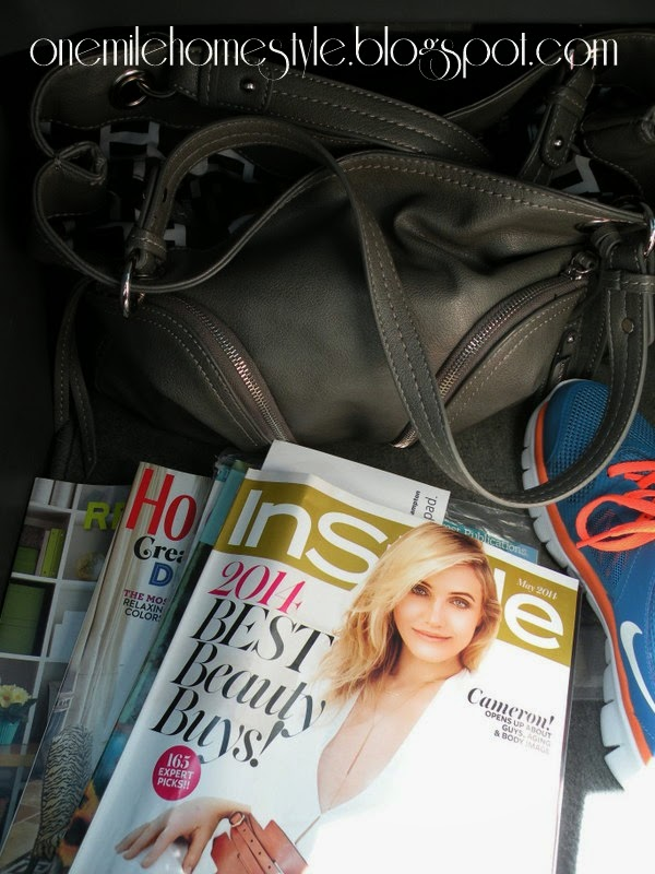 Mom's road trip necessity - magazines