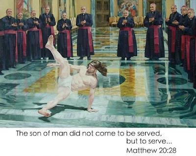 Jesus Christus tanzt vor Kardinälen lustige Bilder