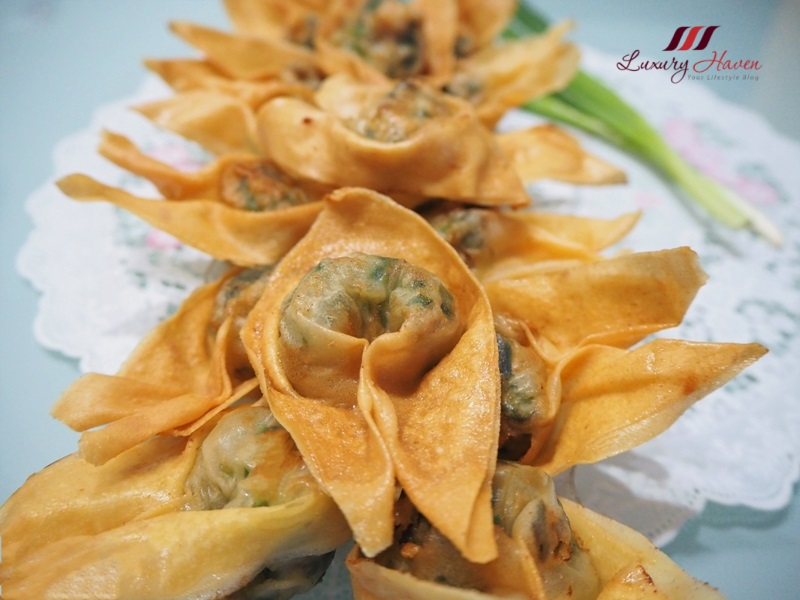 deep fried prawn wonton with chives recipe