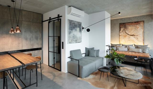 Modern și industrial într-un apartament de 85 m² din Polonia