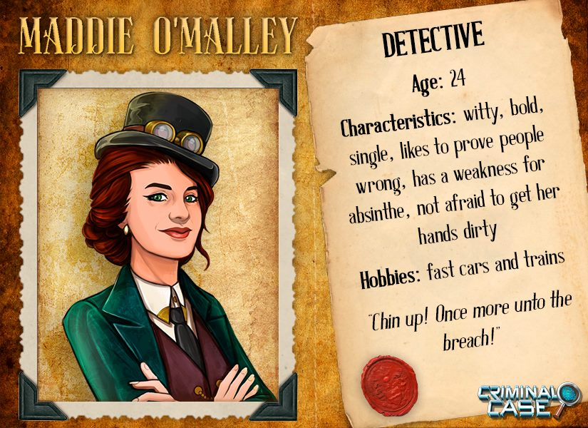 Criminal Case Mysteries Of The Past Maddie O Malley