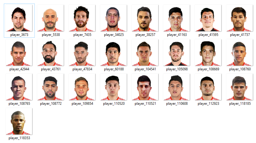 PES 2018 River Plate Mini Faces by RKH257