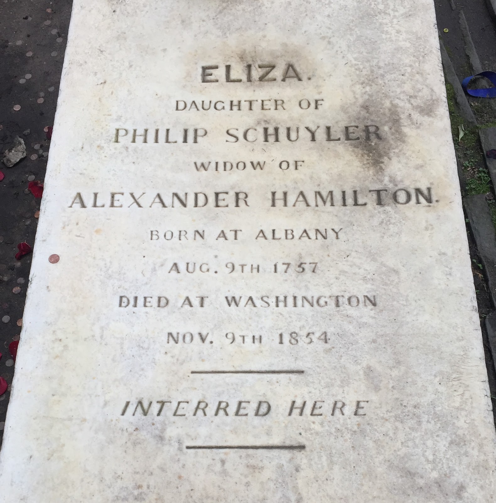 Not Long Ago, I Visited The Churchyard Of Trinity Church In Wall Street,  Where Eliza And Alexander Hamilton Are Buried Side By Side